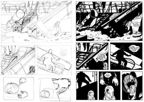 Second City layouts and finished page