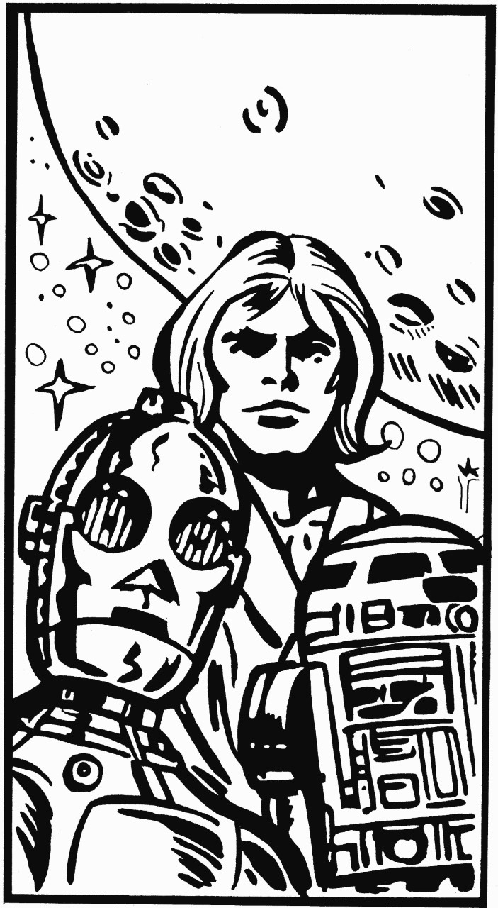 current facebook avatar taken from Robin's hand drawn reproduction of the original Marvel UK Star Wars Weekly corner box