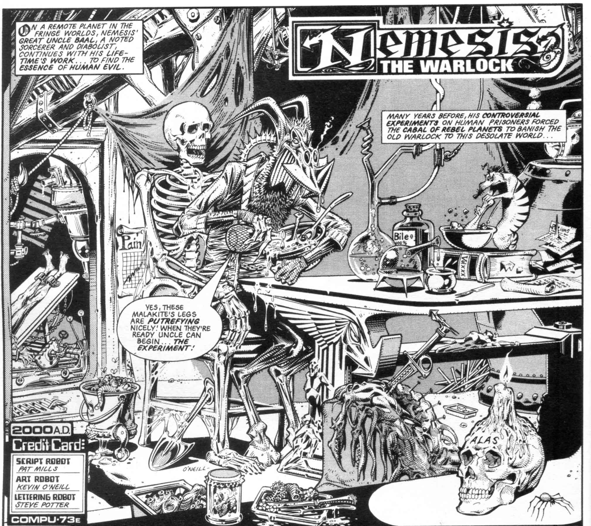 Nemesis the Warlock art Kevin O'Neill written by Pat Mills