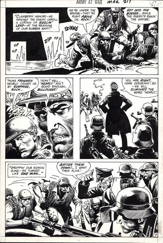 Page from Our Army at War #217 art by Joe Kubert