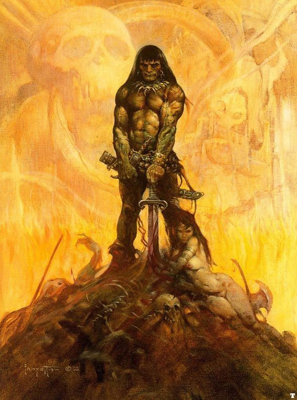 The Barbarian by Frank Frazetta