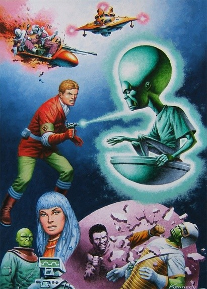 Dan Dare art by Ian Kennedy